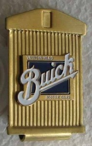 buick motor cars money clip