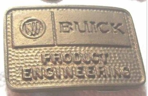 buick prodct engineering belt buckle