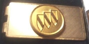 buick tri sheld money clip