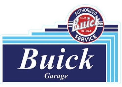 metal buick garage sign