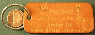 payne buick dealership leather keychain