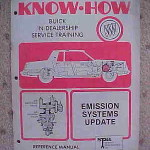 1981 Buick Know How Emission Systems Manual