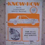 1981 Buick Know How THM 325 4-L Service Manual