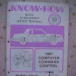 1981 Buick Know How computer command control manual