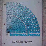 1985 Buick Know How Keyless Entry Manual
