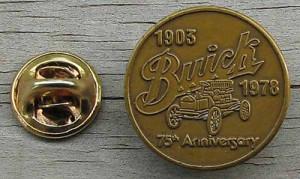 BUICK 75TH ANNIVERSARY PIN