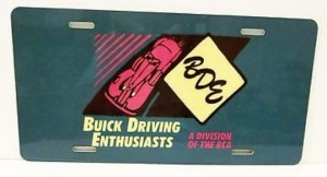 BUICK DRIVING ENTHUSIASTS LICENSE PLATE