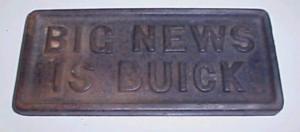 Buick Cast Iron Newspaper Weight