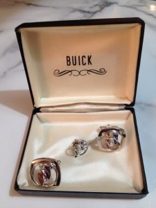 Buick cuff links and tie pin