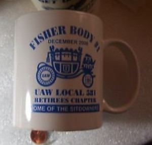 FISHER BODY #1 COFFEE CUP