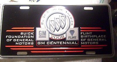 GM BUICK 2008 CENTENNIAL FLINT, MICHIGAN LICENSE PLATE