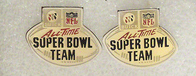 buick NFL all-time super bowl team pin
