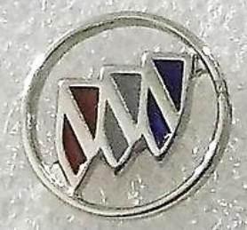 buick crest cutout logo pin