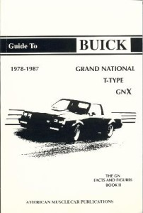 buick gn facts and figures book