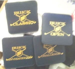 buick golf drink coasters