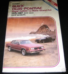 clymer 1975-1987 buick regal book
