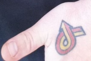 turbo 6 tattoo on hand