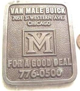 van male buick dealer paperweight 1