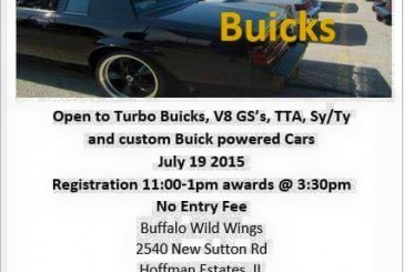 IL: Buddies N Buicks Car Show 7/19/15