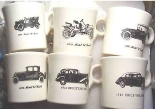 buick fiesta coffee mug set of 6