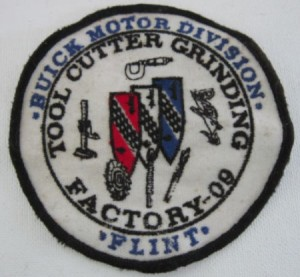 BUICK Motor Division tool cutter grinding Factory 09 Flint embroidered patch,