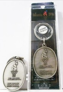 BUICK PROUD SPONSOR ATLANTA OLYMPICS 1996 GENUINE PEWTER KEY RINGS