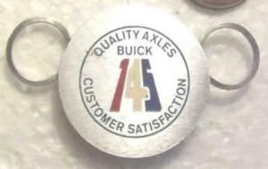 buick axles key chain