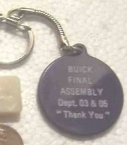 buick final assembly key chain