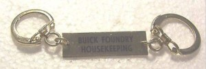 buick foundry housekeeping key ring