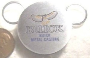buick metal casting hawk zippo key ring