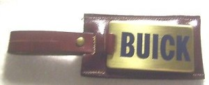 buick name leather key chain