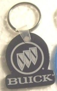 buick name logo key ring