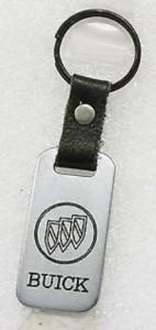 buick symbol leather metal key ring