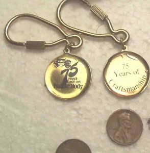 fisher body 75th anniversary keychain