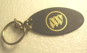 oval buick tri shield key ring