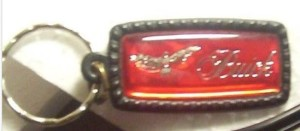 red gold buick hawk keychain