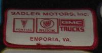 sadler motors buick patch