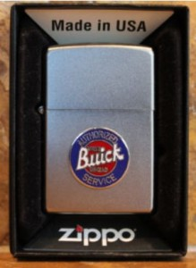 satin zippo with buick logo