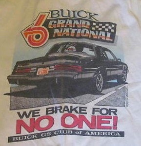 we brake for no one gsca shirt