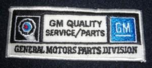 General Motors Parts Division Patch