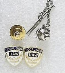UAW LOCAL 599 MEMBER LAPEL PIN AND TIE TACK