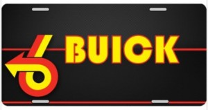 buick power 6 arrow license plate