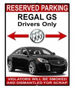 buick regal gs sign