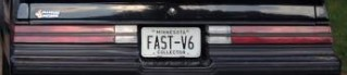 fast-v6 buick plate