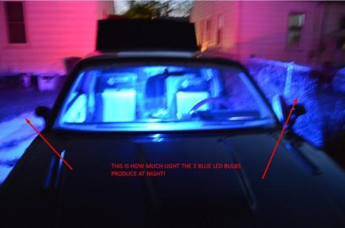 led bulb trunk lights