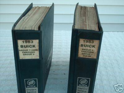 1983 buick service manuals