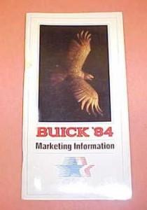 1984 Buick Salesmans Marketing Information Brochure