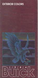 1984 buick exterior colors brochure
