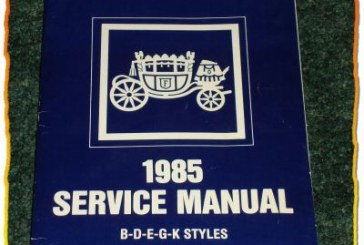 1985 Buick Service Manual Books
