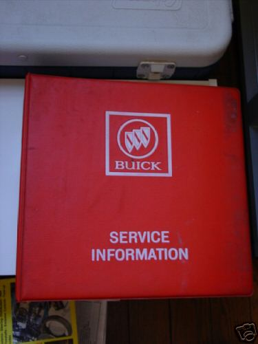 1987 BUICK SERVICE INFO